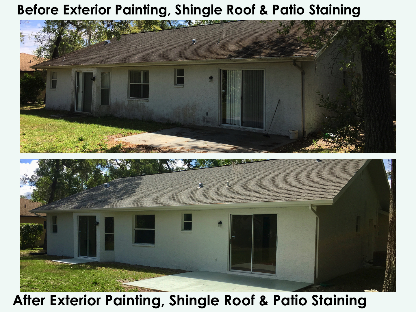 39 Before After Exterior Painting Shingle Roof Cleaning And Patio Staining